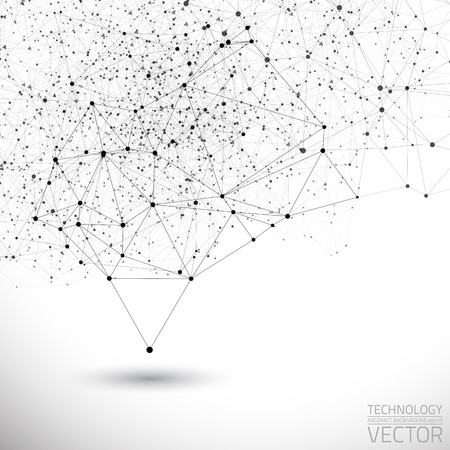 Abstract white bright technology vector background. Connection structure. Vector science background. Polygonal vector background Zdjęcie Seryjne - 33218499