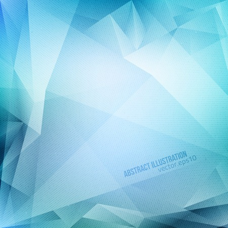 Abstract vector blue background with halftone texture.  Ilustração