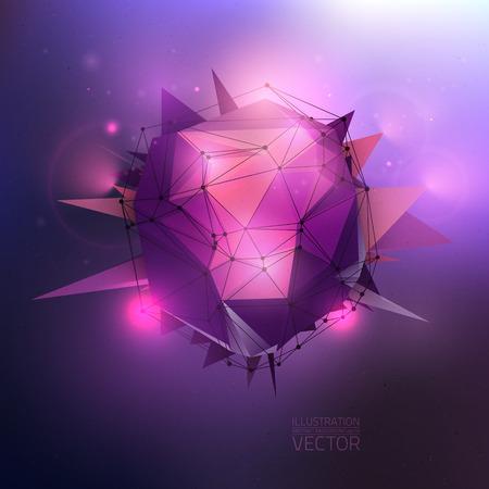 Abstracte vector achtergrond. Muziek partij vector illustratie.