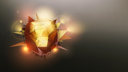 hereafter: Abstract wallpaper with polygonal shape and light effects.