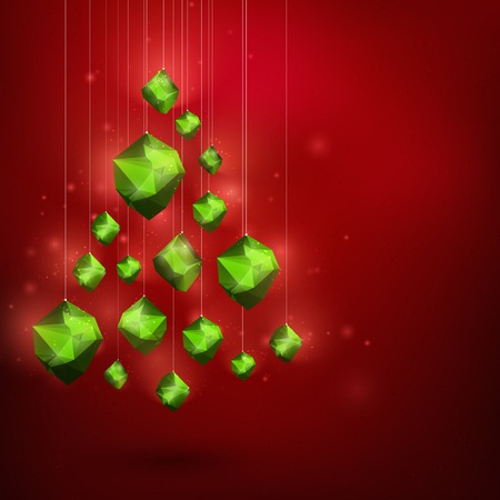 Merry Christmas and Happy New Year abstract vector illustration. Low Poly vector with lighting particles effect. Celebration vector background Vector
