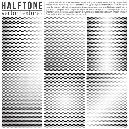Vector halphtone textures set. Analog halftone structure. Overlay vector abstract textures. Abstract vector background. Halftone vector structure.