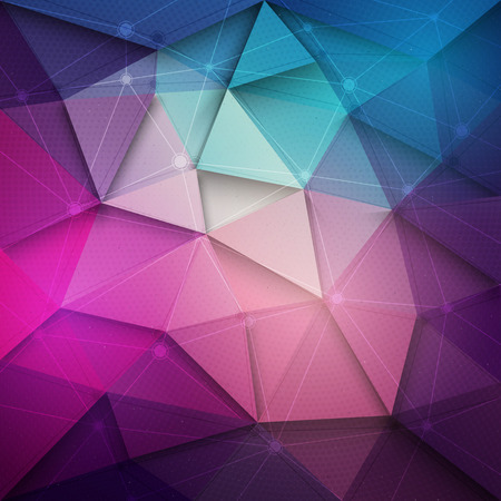 Abstract 3d vector technology background with wireframe structure. Vector digital background for web applications business. Abstract vector wallpaper. Party abstract vector background Ilustracja