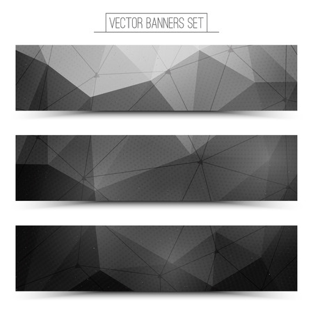 abstract background vector: Abstract 3d vector digital technology web banners set. Internet technology vector background. Business abstract vector. Design vector elements
