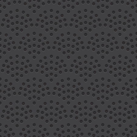 sheet metal: Technology vector geometric perforated material seamless dark grey background for applications (app), web user interfaces (ui), internet sites, business. Abstract technology minimalism wallpaper