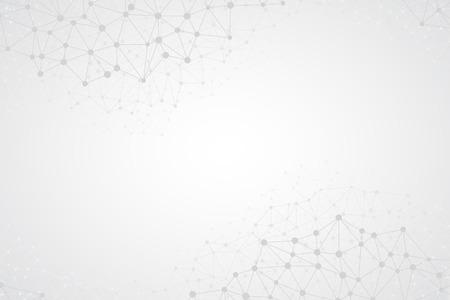 추상 밝은 간단한 기술 벡터 배경입니다. 연결 구조. 다각형 벡터 추상적 인 벽지. 추상 기술 모양. 벡터 과학 배경 일러스트