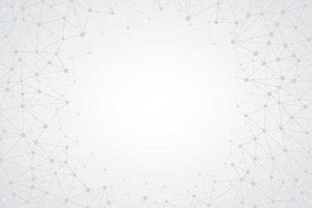 明るいシンプルな技術のベクトルの背景を抽象化します。接続構造体。多角形のベクトルの抽象的な壁紙。技術図形を抽象化します。科学のベクト  イラスト・ベクター素材