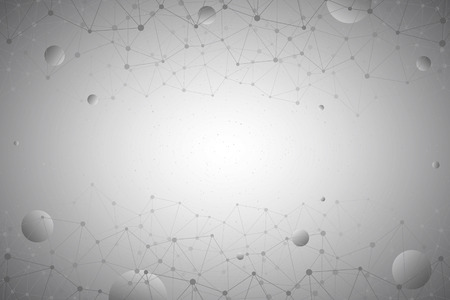 connection connections: Abstract 3d vector technology gray background. Connection structure. Internet technology business vector background. Science vector background. Abstract vector wallpaper