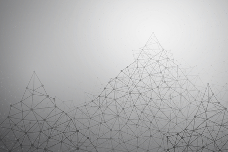 a medical technology: Abstract gray technology vector background. Connection structure. Vector abstract mountains peaks. Polygonal vector background. Science vector. Abstract wallpaper