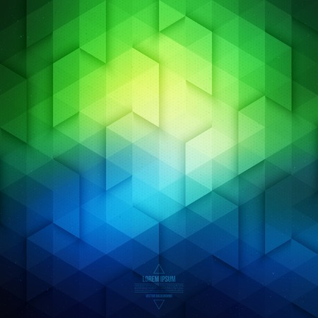 blue and green: Technology geometric background - blue and green