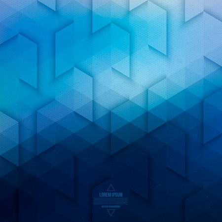 blue abstract: Technology abstract geometric background
