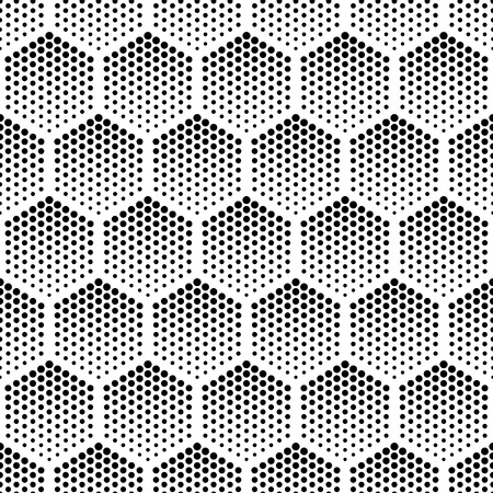 retro pattern: Vector geometric halftone seamless pattern. Retro pointillism vector seamless background. Vector old school design. Vector dotted texture