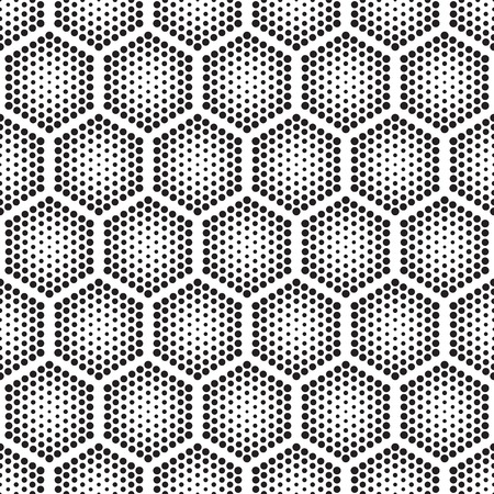pointillism: Vector geometric halftone seamless pattern. Retro pointillism vector seamless background. Vector old school design. Vector dotted texture
