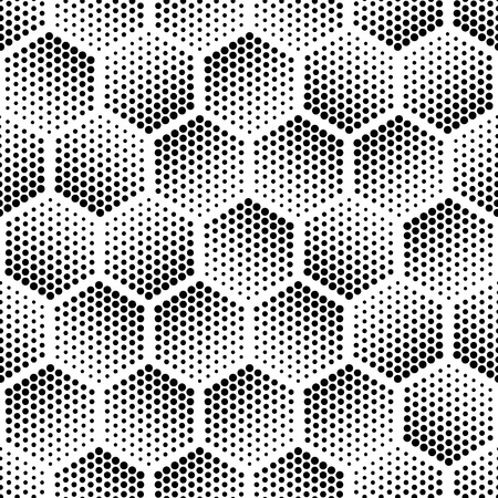 geometric: Vector geometric halftone seamless pattern. Retro pointillism vector seamless background. Vector old school design. Vector dotted texture