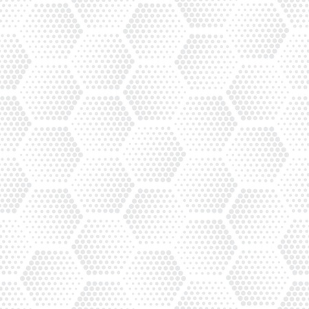 Vector light gray geometric halftone seamless pattern. Retro pointillism vector seamless background. Vector old school design. Vector bright dotted texture