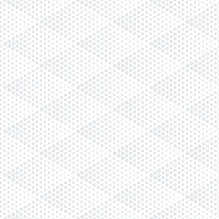 Vector bright geometric halftone seamless pattern. Retro pointillism vector seamless background. Vector old school design. Vector light gray dotted texture
