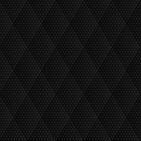 pointillism: Vector dark gray geometric halftone seamless pattern. Retro pointillism vector seamless background. Vector old school design. Vector dark dotted texture