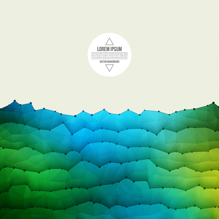 waveform: Abstract 3d vector textured geometrical polygonal waveform structure bright background for design, business, print, web, ui and other