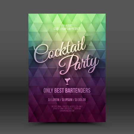 business event: Vector flayer design template Cocktail Party