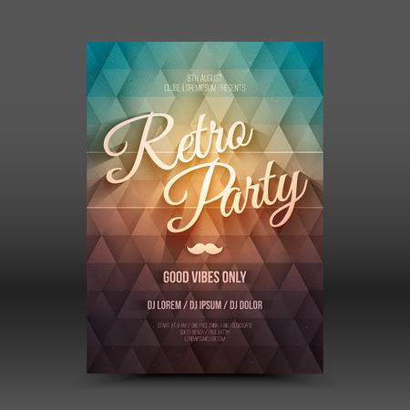 flayer: Vector flayer design template Retro Party