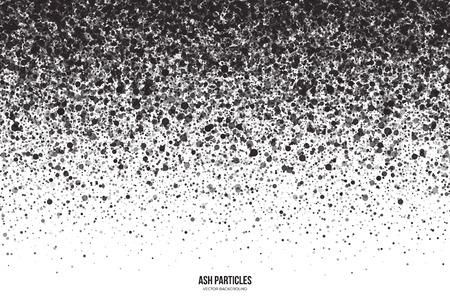 抽象的なベクトル暗い灰色白い背景の上の灰粒子をラウンドします。スプレーの効果。黒落下を散布図します。手作りグランジ テクスチャ  イラスト・ベクター素材