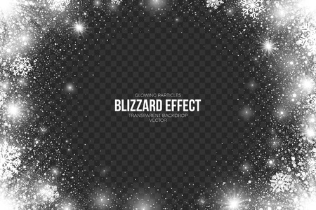 Snow Blizzard Effect on Transparent Background Illustration