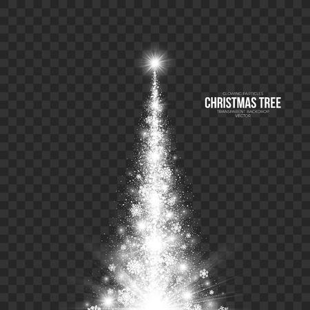 taper: Stylized Christmas Tree on Transparent Background Illustration. Illustration