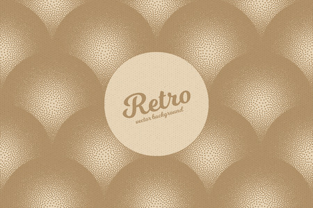 cardboard texture: hand made dotwork background in retro and vintage style. Abstract dotted stippling engraving. Artistic 3d illusion art illustration. Paper cardboard texture Illustration