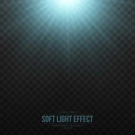 irradiation: Soft blue light effect on transparent background illustration