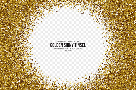 shiny: Golden Shiny Tinsel Square Particles Vector Background Illustration