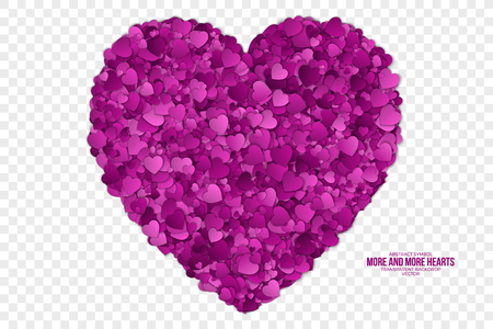 Abstract Hearts Vector Background Illustration
