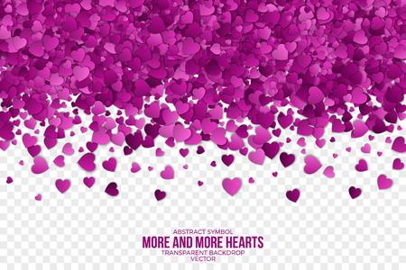 Abstract Hearts Vector Background Zdjęcie Seryjne