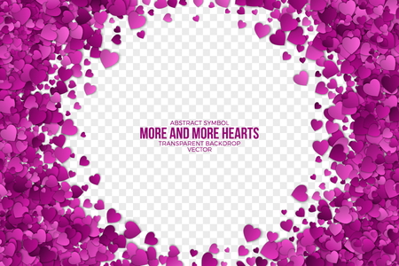Abstract Hearts Vector Background Stock Photo