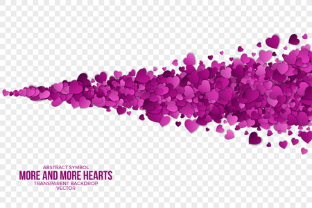 Abstract Hearts Background Stock Photo