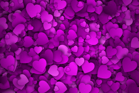 Abstract 3d Hearts Vector Background