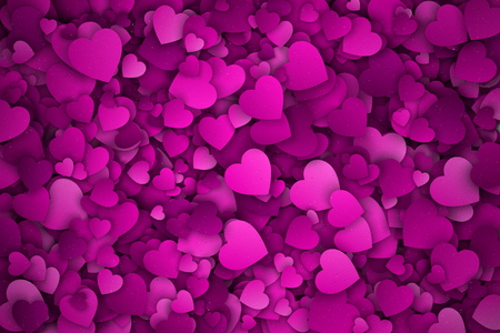 jumble: Abstract 3d Hearts Background