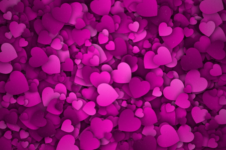 jumble: Abstract 3d Hearts Vector Background
