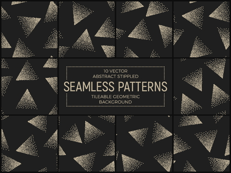 stippled: Vector Abstract Stippled Seamless Patterns