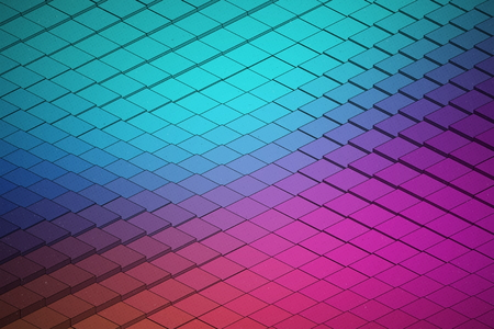 Abstract Vector Technological Waveform Colorful Bright Background. 3D Render Science Structure Art Illustration