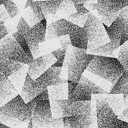 Vector Abstract Stippled Weird Seamless Pattern