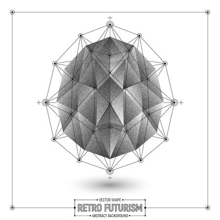 futurism: Vector Retro Futurism Abstract Background