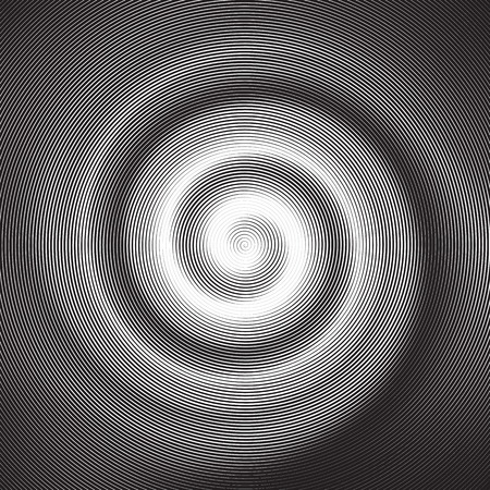 Halftone Abstract Hypnotic Spiral figure