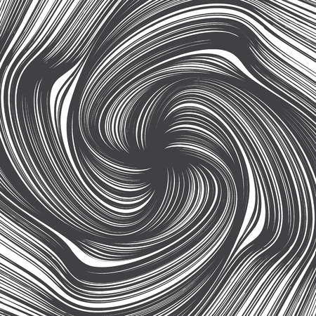 Hand Drawn Vector Abstract Twirl Lines Texture