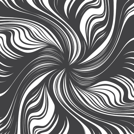 distort: Hand Drawn Vector Abstract Twirl Lines Texture