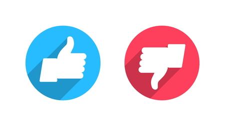 ceo: Like and Dislike Vector Flat Icons