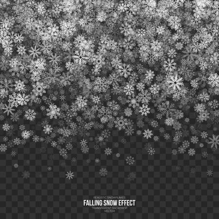 Vector Falling Snow 3D Effect Archivio Fotografico - 88927401