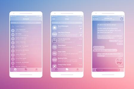 Messaging App Vector Mockup Illustration