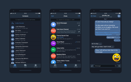 Messaging App Vector Mockup