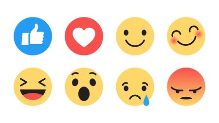Flat Design Vector Modern Emoji
