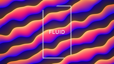 Vector Colorful Fluid Design Abstract Background. Digital 3D Conceptual Contemporary Generative Art Illustration. Dynamic Motion Liquid Shapes Flow Effect Wallpaper